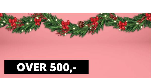 Julegaver over 500 kr.-