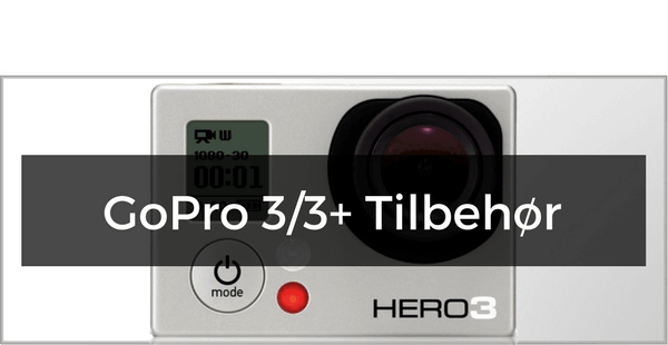 GoPro Hero 3 & 3+ tilbehør