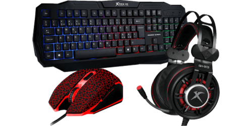 Gamer Tastatur, Mus & Headset