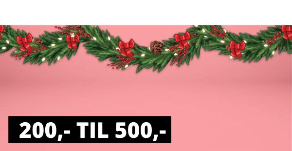 Julegaver 200 - 500 kr.-