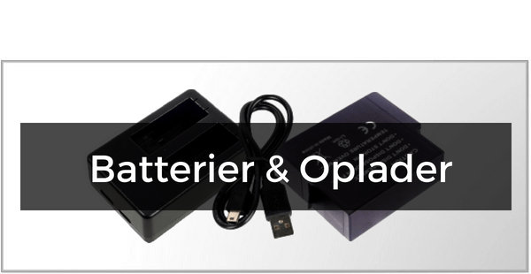 Batterier & Opladere til GoPro Hero/Hero 5 Session