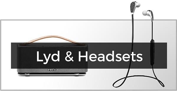 Headsets, højtalere & lyd til iPhone 4/4S