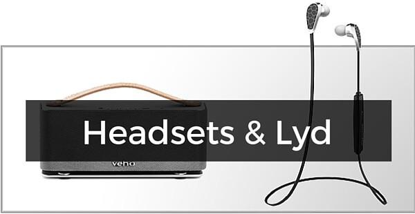 Headsets, højtalere & lyd til iPhone 7