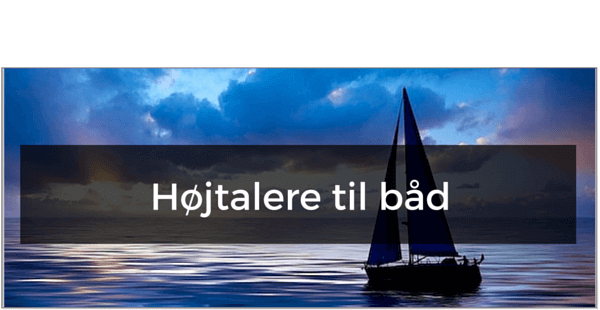 Højtaler til båd