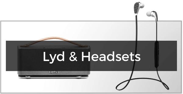 Headsets, højtalere & lyd til Samsung Galaxy S6