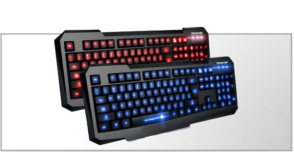 Gamer tastatur med lys