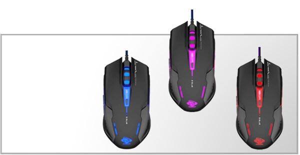 Gamer mus med lys