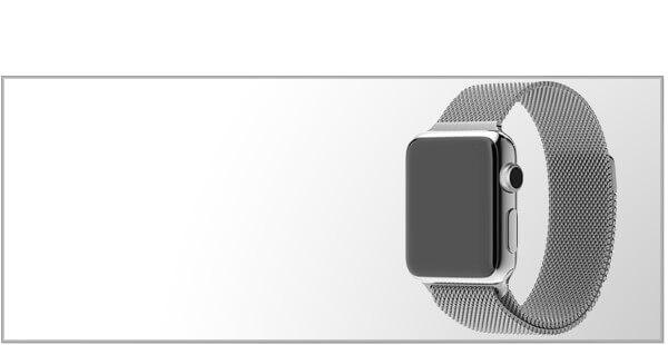 Stålremme til Apple Watch 3