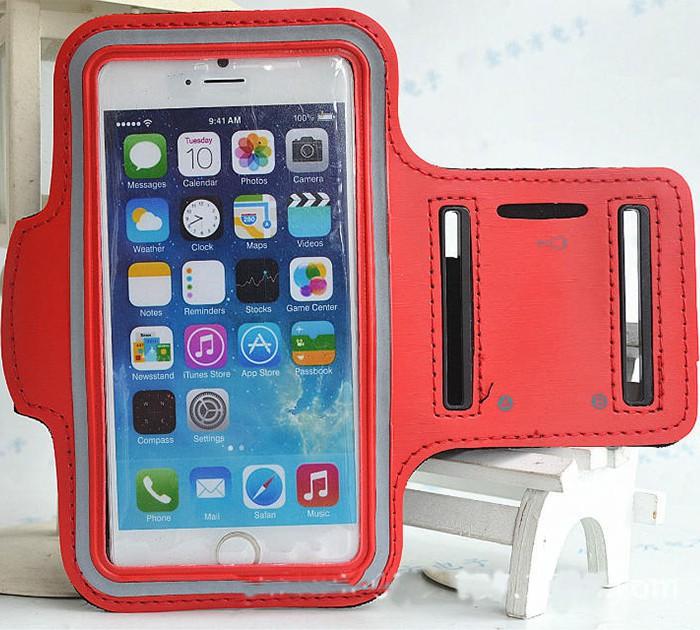 Løbearmbånd til iPhone 6 / 6S- rød