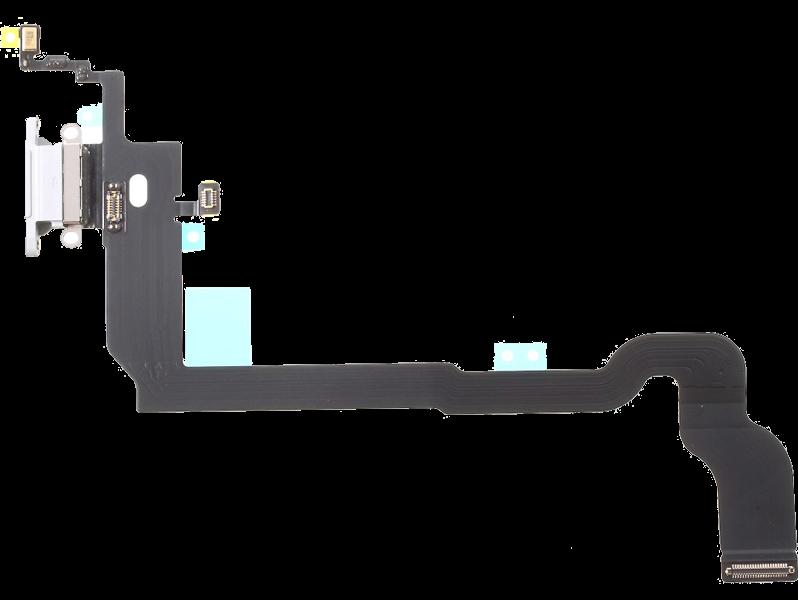 Image of   Oplader indgang / dock connector til iPhone X-Hvid