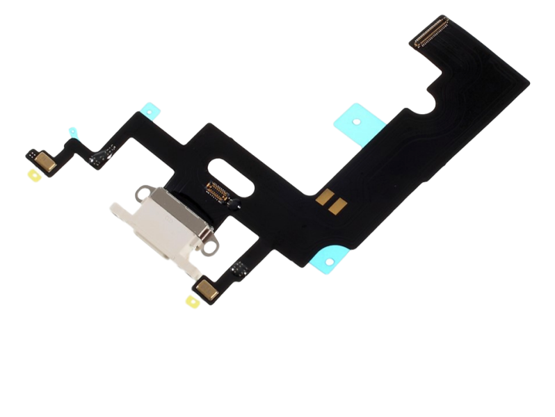 Image of   Opladerindgang / dock connector til iPhone XR-Hvid