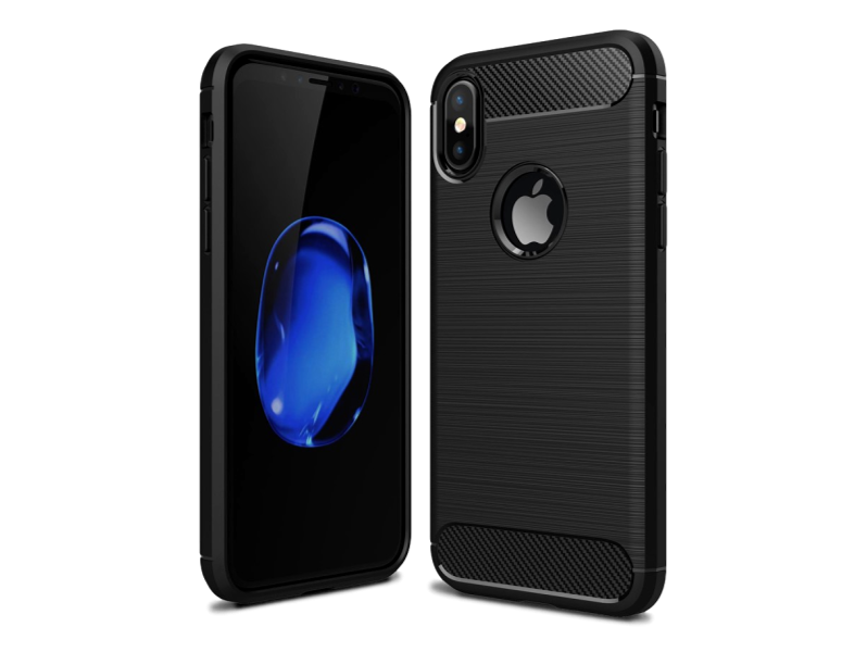 Image of   Carbon TPU Cover til iPhone X / XS