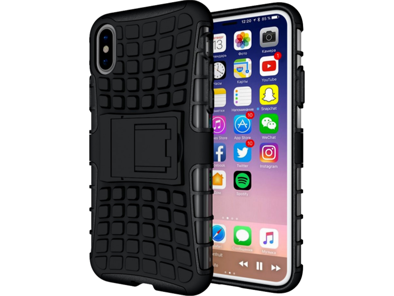 Image of   Hybrid cover med kickstand til iPhone X