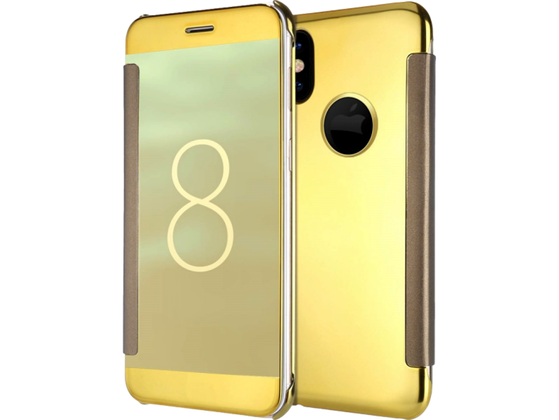 Image of   Sola flipcover til iPhone X-Guld