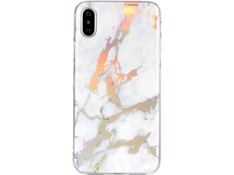 Image of   Marmor TPU Cover til iPhone X / XS-Hvid