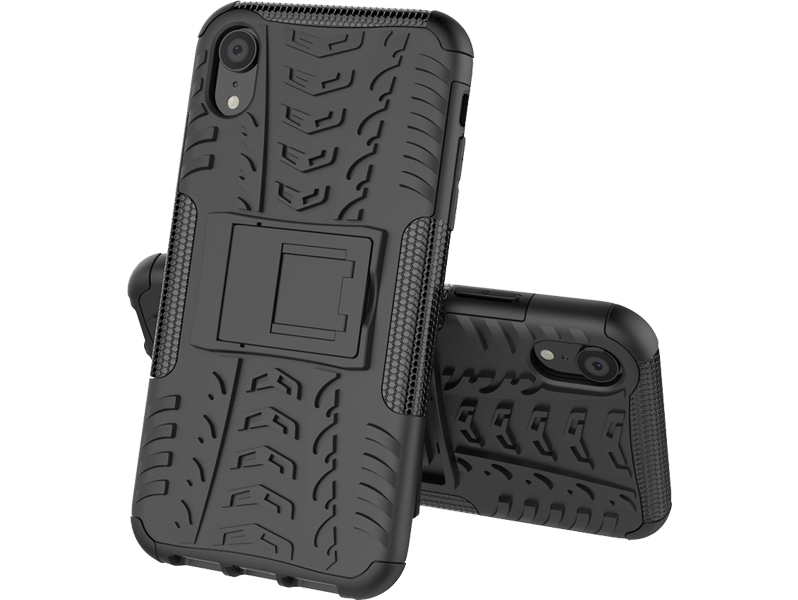 Image of   Armor TPU Cover m. kickstand til iPhone XR
