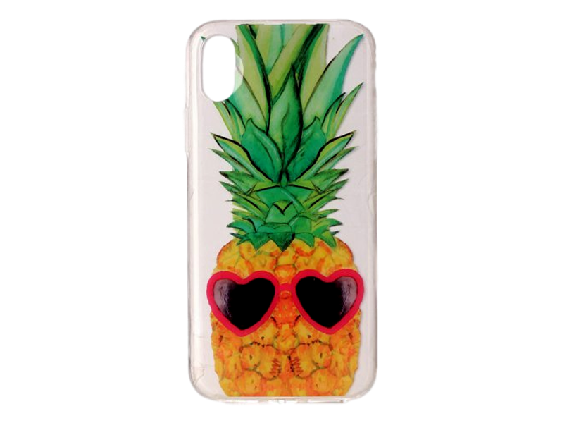 Image of   Ananas TPU Cover til iPhone X og iPhone XS