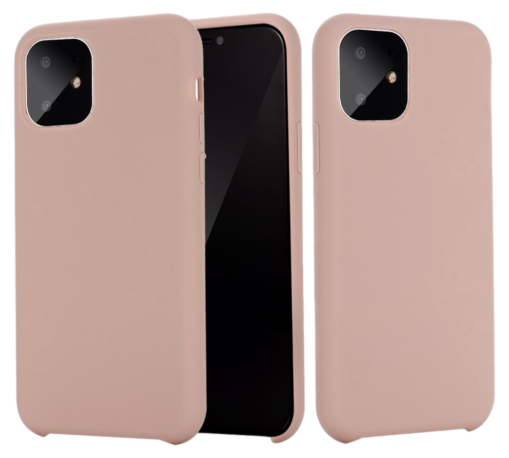 Matte Slim Silikone Cover til iPhone 11 Pro-Rosa