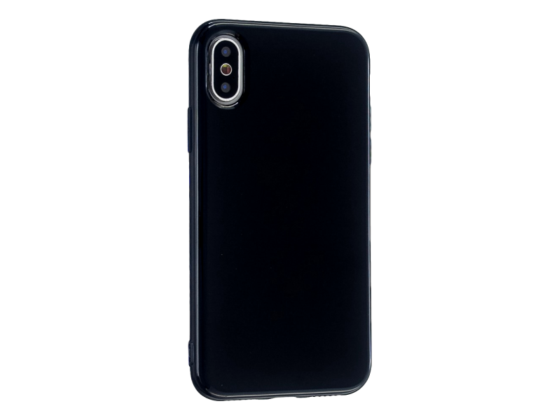 Image of   Glossy TPU Cover til iPhone X / XS-Sort