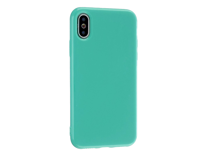 Image of   Glossy TPU Cover til iPhone X / XS-Turkis