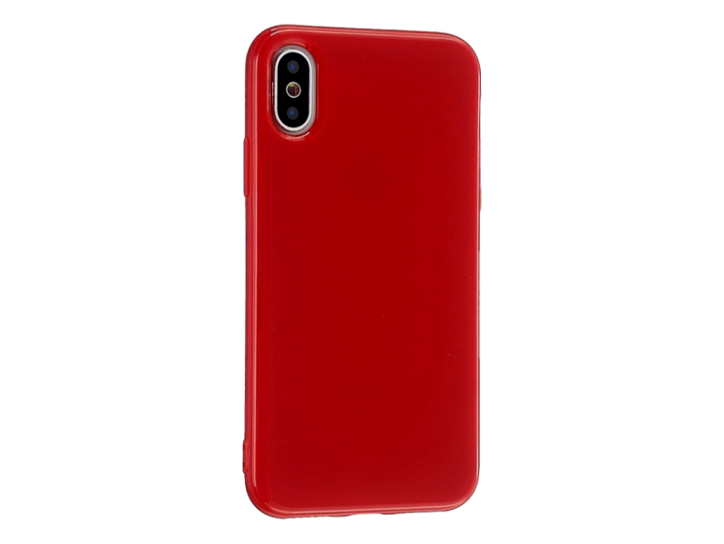 Image of   Glossy TPU Cover til iPhone X / XS-Rød