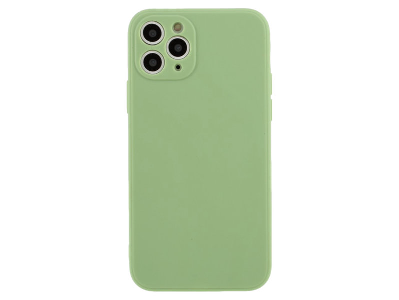 Matte Silicone Cover til iPhone 11 Pro-Lysegrøn