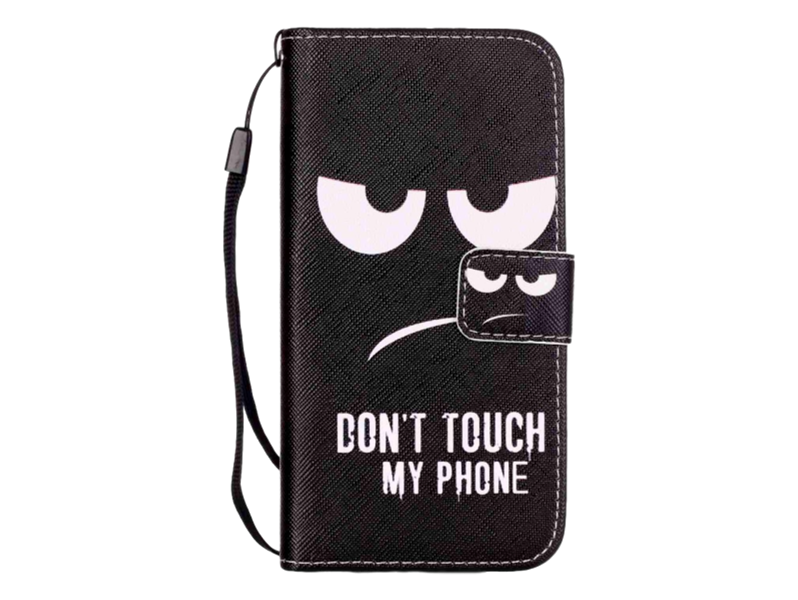 Image of   Don't Touch My Phone Flip Cover til iPhone 7 / 8 / SE (2020)