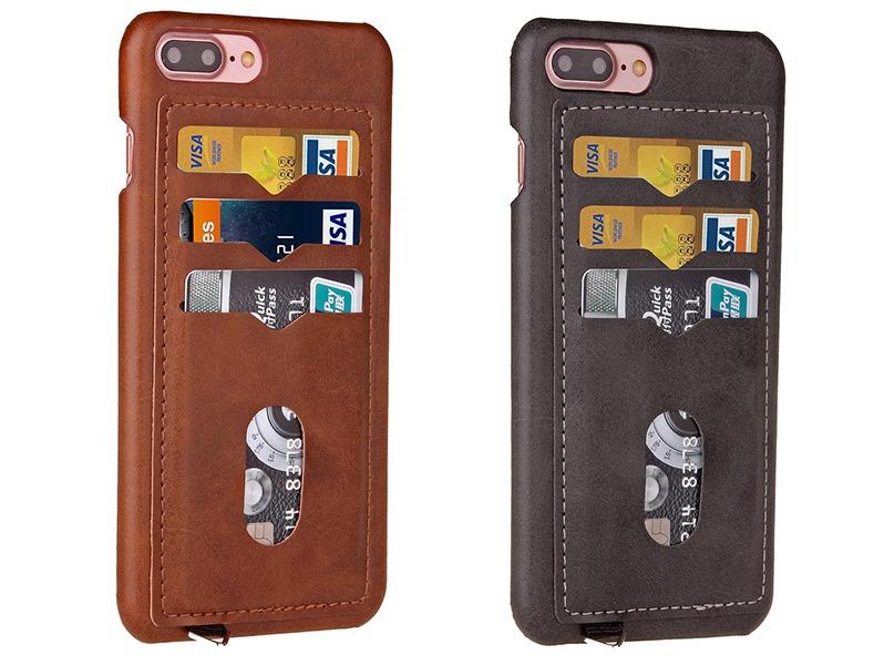 Image of   Acorvus Læder Cover Til iPhone 7 Plus / 8 Plus Med Kortholder