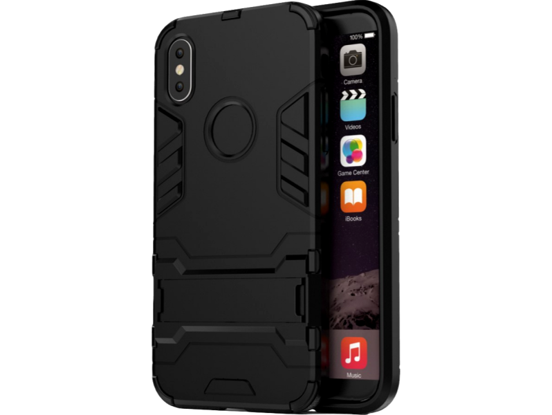 Image of   Pancho TPU cover med kickstand til iPhone X