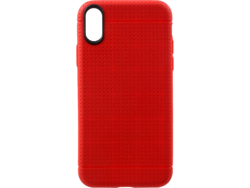 Image of   Dots TPU cover til iPhone X-Rød