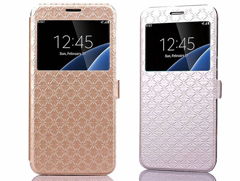 Image of   Rhombus Flip Cover Til Samsung Galaxy S7 Edge