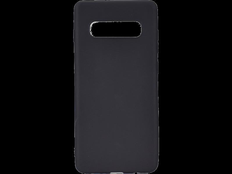 Matte TPU Cover til Samsung Galaxy S10-Sort