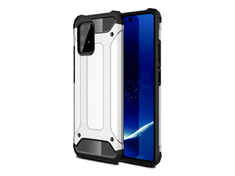 Armor TPU Cover til Samsung Galaxy S10 Lite-Sølv