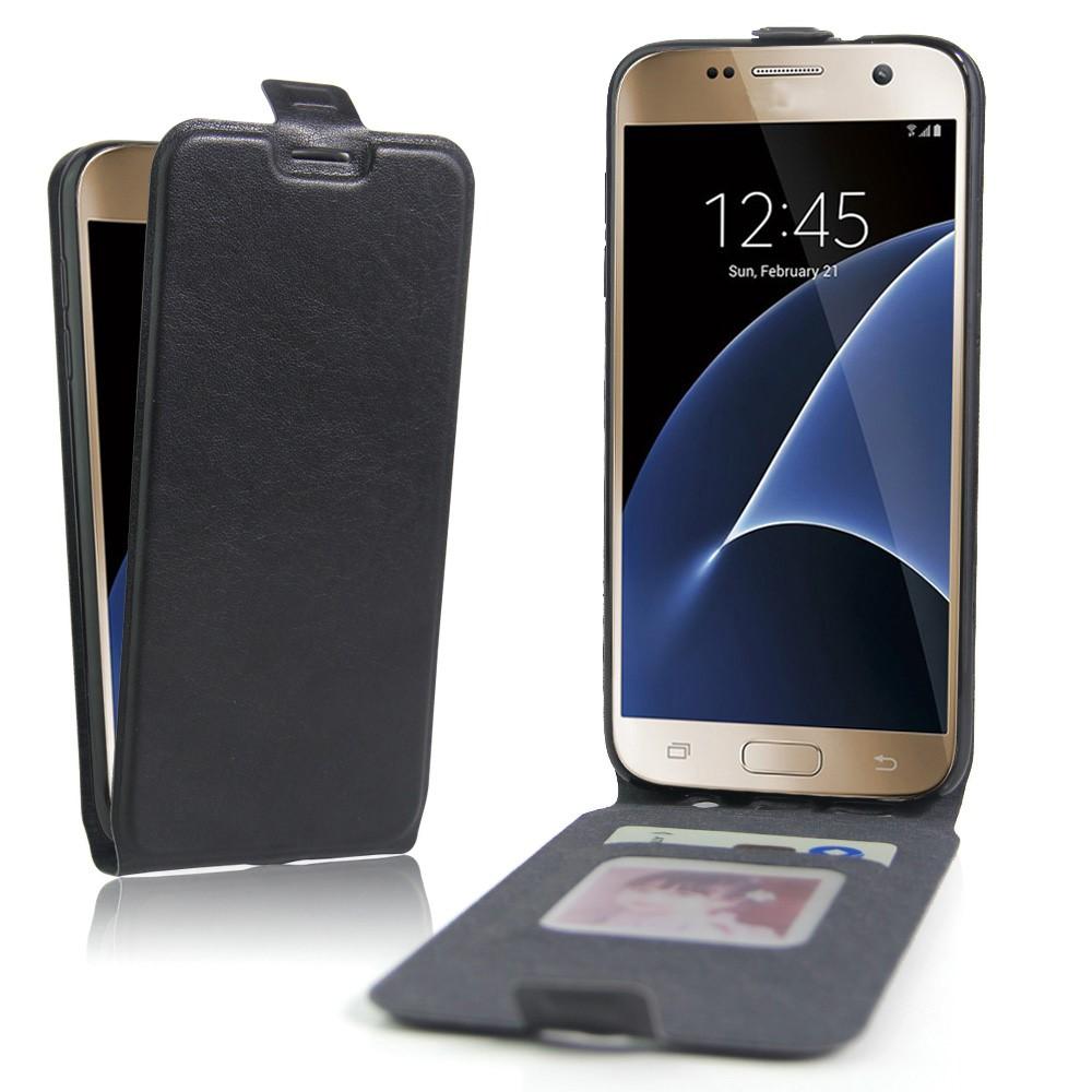 Image of   Meron Læder Flip Cover Til Samsung Galaxy S7