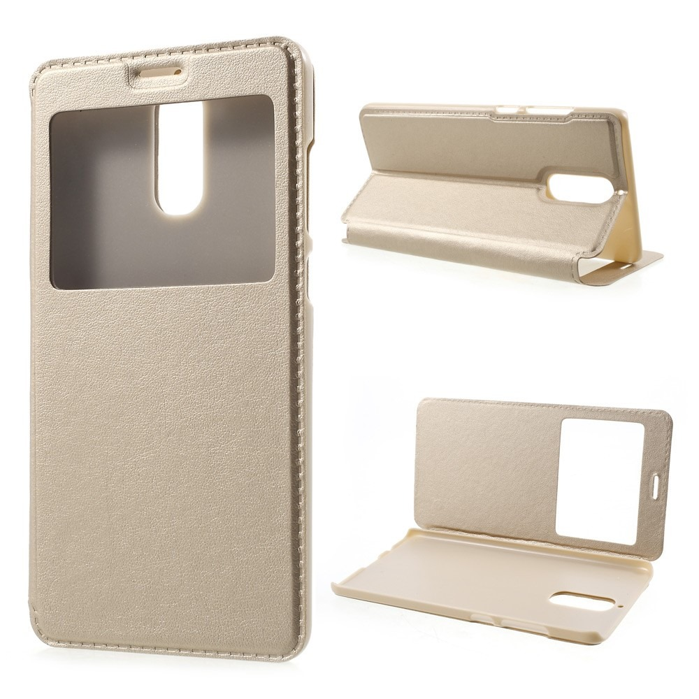 Image of   Domitus view-flipcover til Huawei Mate 9 Pro-Guld