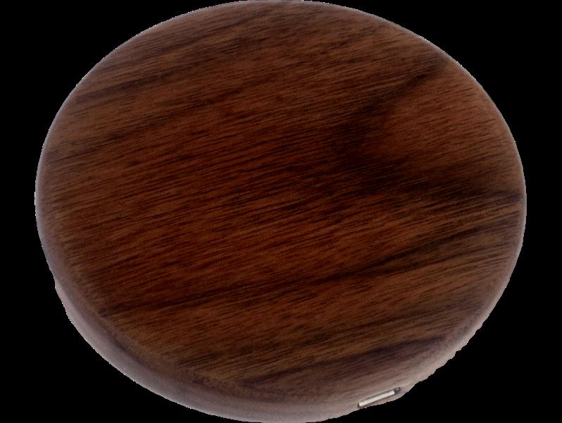 Image of   Trådløs QI oplader i træ-Mørkebrun