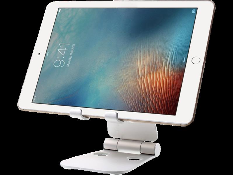 Image of   Universal aluminium stand/holder til smartphone / tablet-Sølv