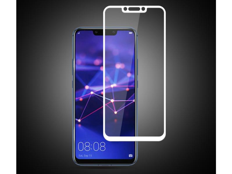 Image of 3D Hærdet Beskyttelsesglas til Huawei Mate 20 Lite-Hvid