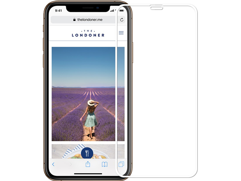 Image of   Buet Hærdet Beskyttelsesglas til iPhone XR / 11-Hvid