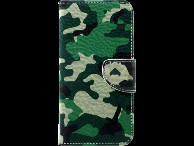 Image of   Camouflage flipcover i PU læder til OnePlus 5T