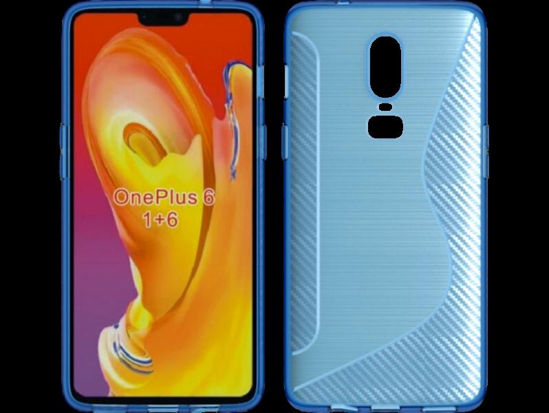 Image of   Carbon Fiber TPU Cover til OnePlus 6-Blå