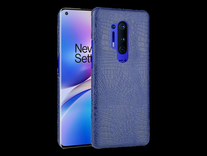 Crocodile Cover til OnePlus 8 Pro-Blå