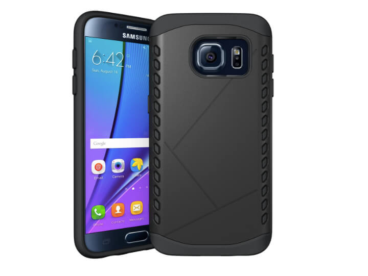 SAMSUNG GALAXY S7 EDGE Stødsikkert cover-Sort