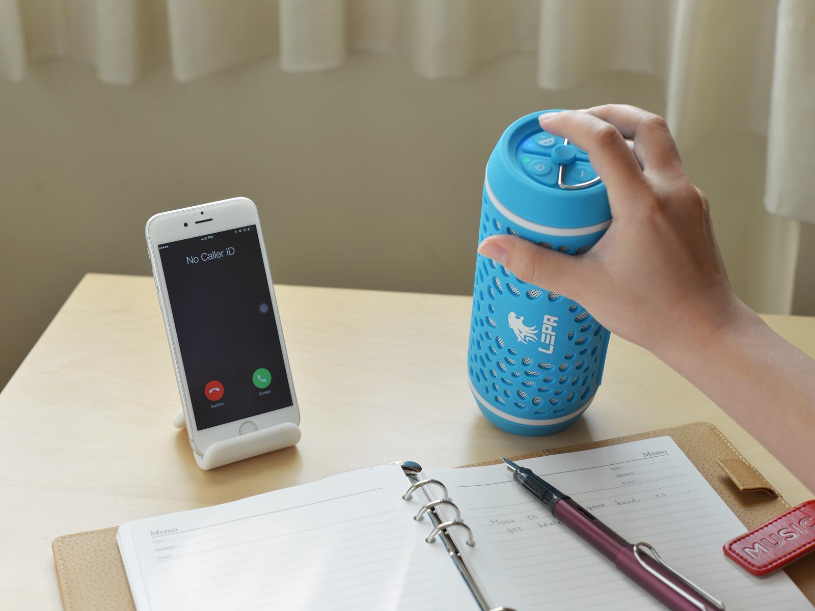 LEPA - Bluetooth udendørs Højtaler-Blå