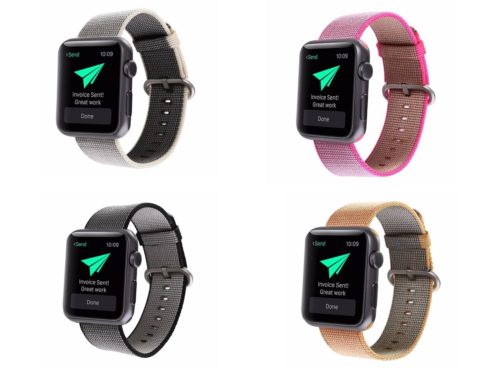 Gili rem i Nylon til Apple Watch