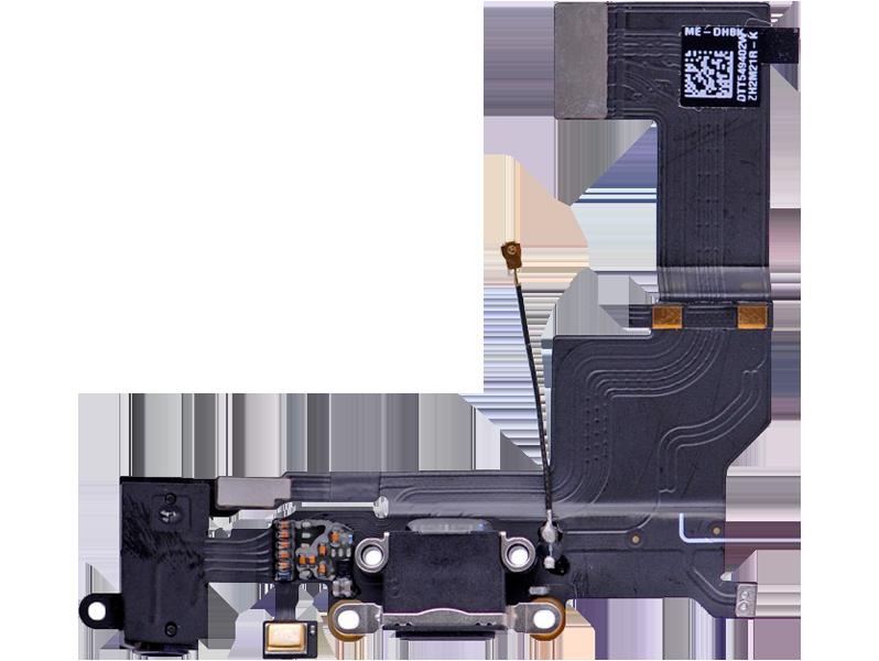 Image of   Hovedtelefon indgang + oplader indgang til iPhone SE-Sort