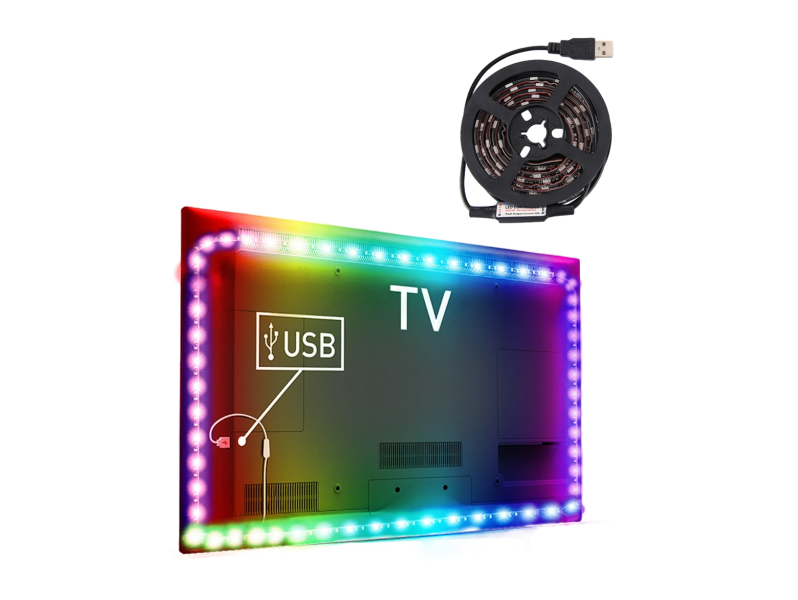 Image of   Colourful LED-Lys til TV & PC-1 meter