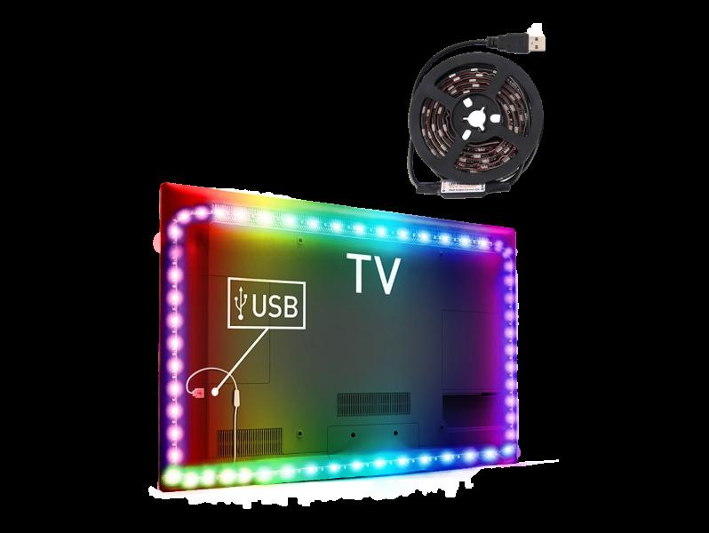 Image of   Colourful LED-Lys til TV & PC-2 meter