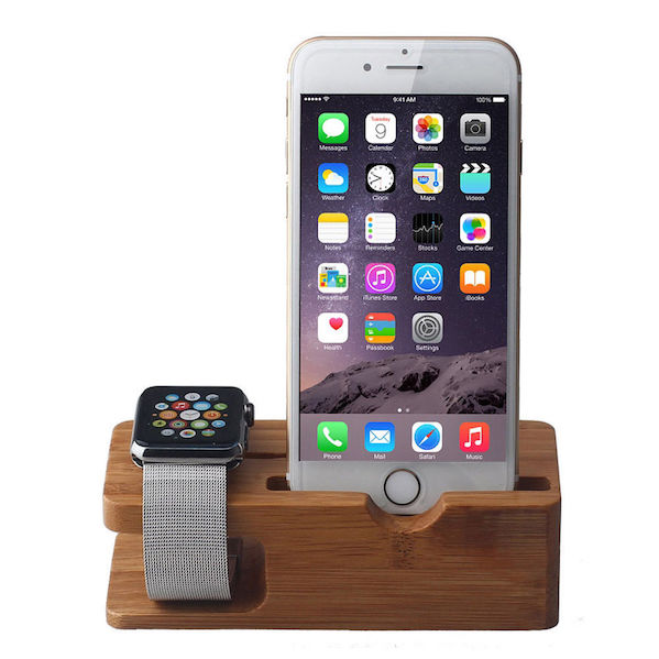 Image of   Bamboo Stand / Holder til Apple Watch
