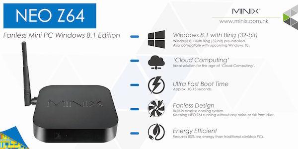 Minix NEO Z64 Windows 8.1 Mini PC